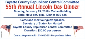 55th Annual Lincoln Day Dinner