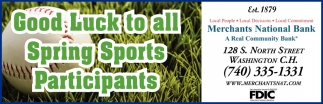 Good Luck to all Spring Sports Participants