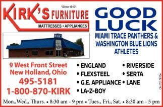 Good Luck Miami Trace Panthers & Washington Blue Lions Athletes