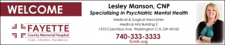 Welcome Lesley Manson, CNP