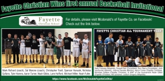 Fayette Christian Wins first annual Basketball Invitational
