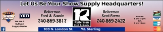 Let us be your show supply headquarters!