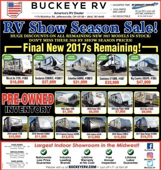 RV Show Season Sale!