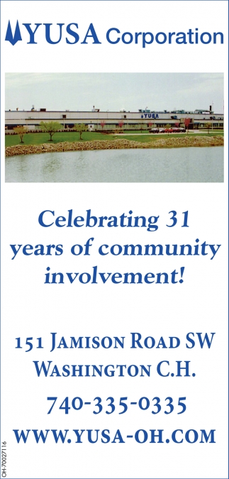 Celebrating 31 years of community involvement!