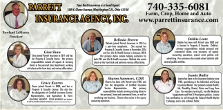 Farm, Crop, Home and Auto, Parrett Insurance Agency