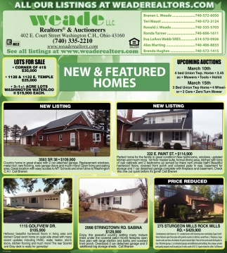 New & Featured Homes