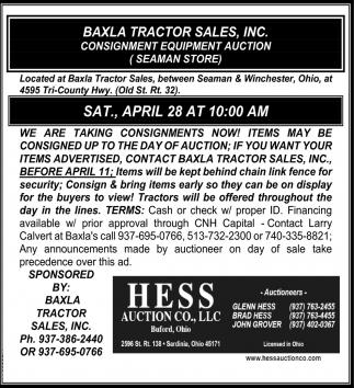 Baxla Tractor Sales, Inc