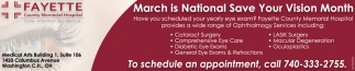 March is National Save Your Vision Month