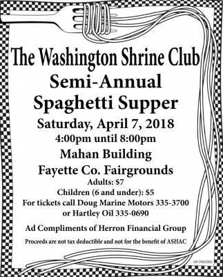 Semi Annual Spaghetti Supper