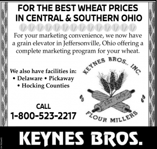 For the best wheat proces in Central & Southern Ohio