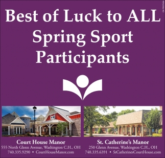 Best of Luck to All Spring Sport Participants