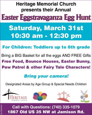 Easter eggstravaganza egg hunt heritage memorial church washington easter eggstravaganza egg hunt heritage memorial church washington court house oh negle Choice Image