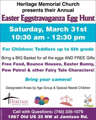 Eggstravaganza egg hunt heritage memorial church washington court easter eggstravaganza egg hunt heritage memorial church washington court house oh negle Images