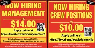 Management, Crew Position