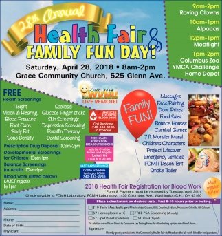 28th Annual Health Fair & Family Fun Day