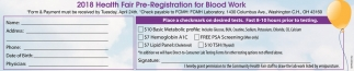 2018 Health Fair Pre-Registration for Blood Work