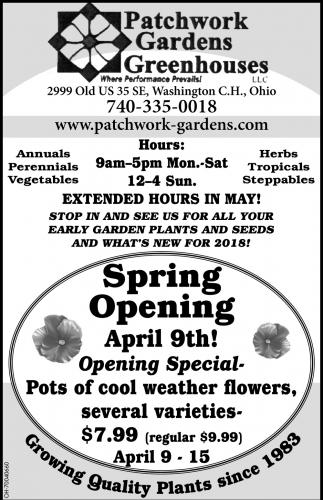 Spring Opening