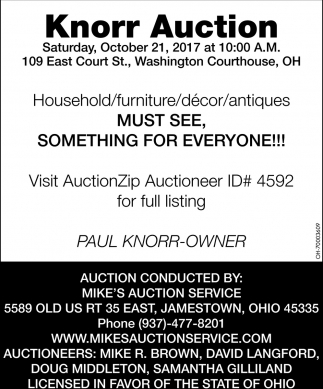 Knorr Auction