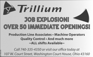 Over 50 Immediate Openings!