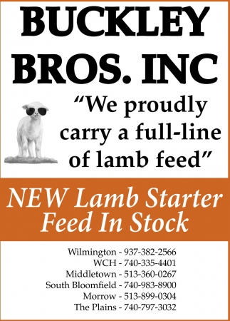 We proudly carry a full-lime of lamb fee