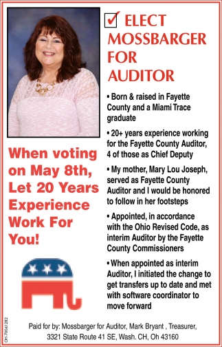 Mossbarger for auditor