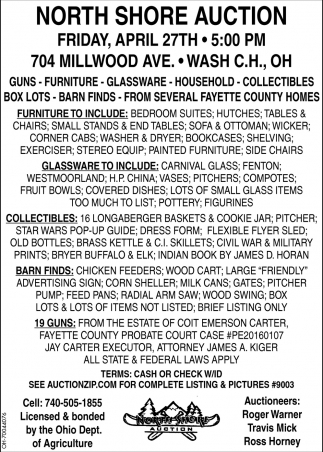 Guns, Furniture, Glassware, Household