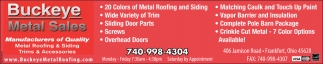 Metal Roofing & Siding