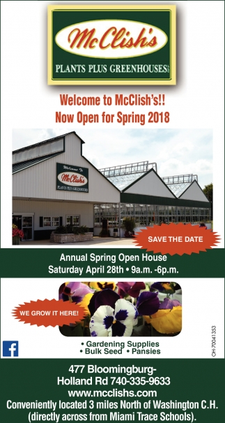 Now Open for Spring 2018