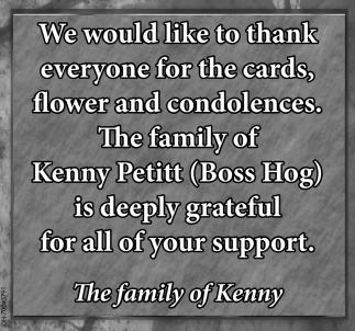 Family of Kenny Petitt